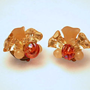 Vintage  Clip On Earrings hallmarked West Germany