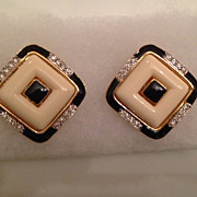 "Vintage Signed ""Kenneth Lane"" Clip-on Earrings"