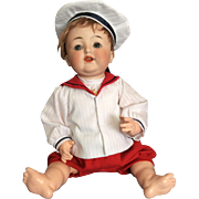 Pretty German Baby Sailor Doll