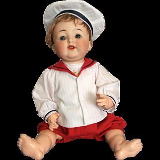 Pretty German Baby Sailor Doll