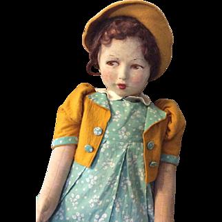 Wonderful  Deans Rag Book cloth Doll A/O