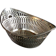 STERLING Schoonhoven NUT BASKET Reticulated Almond Bon Bon 83.3 Dutch Silver 1944