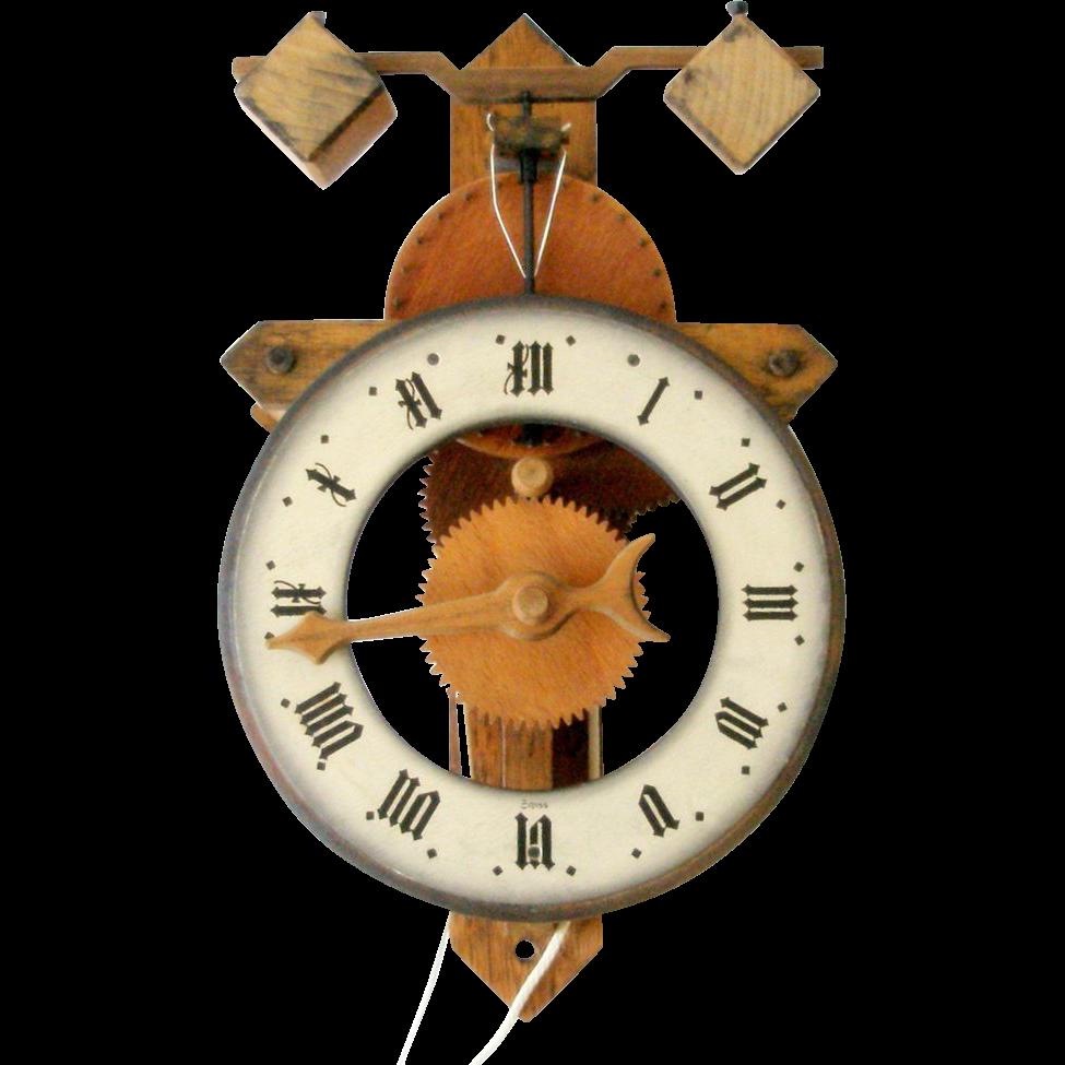 60s wood buco 1320 clock wall pendulum foliet baumann ltd 60s wood buco 1320 clock wall pendulum foliet baumann ltd switzerland box flowers amipublicfo Image collections