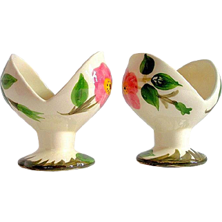 Franciscan Desert Rose Candle Holder Pair Candlesticks