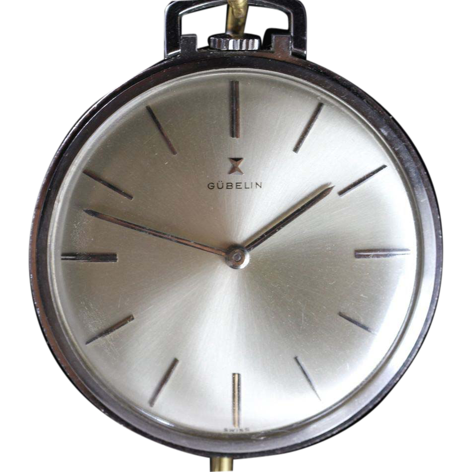 Vintage gubelin swiss pocket watch near mint condition for Vintage jewelry store near me