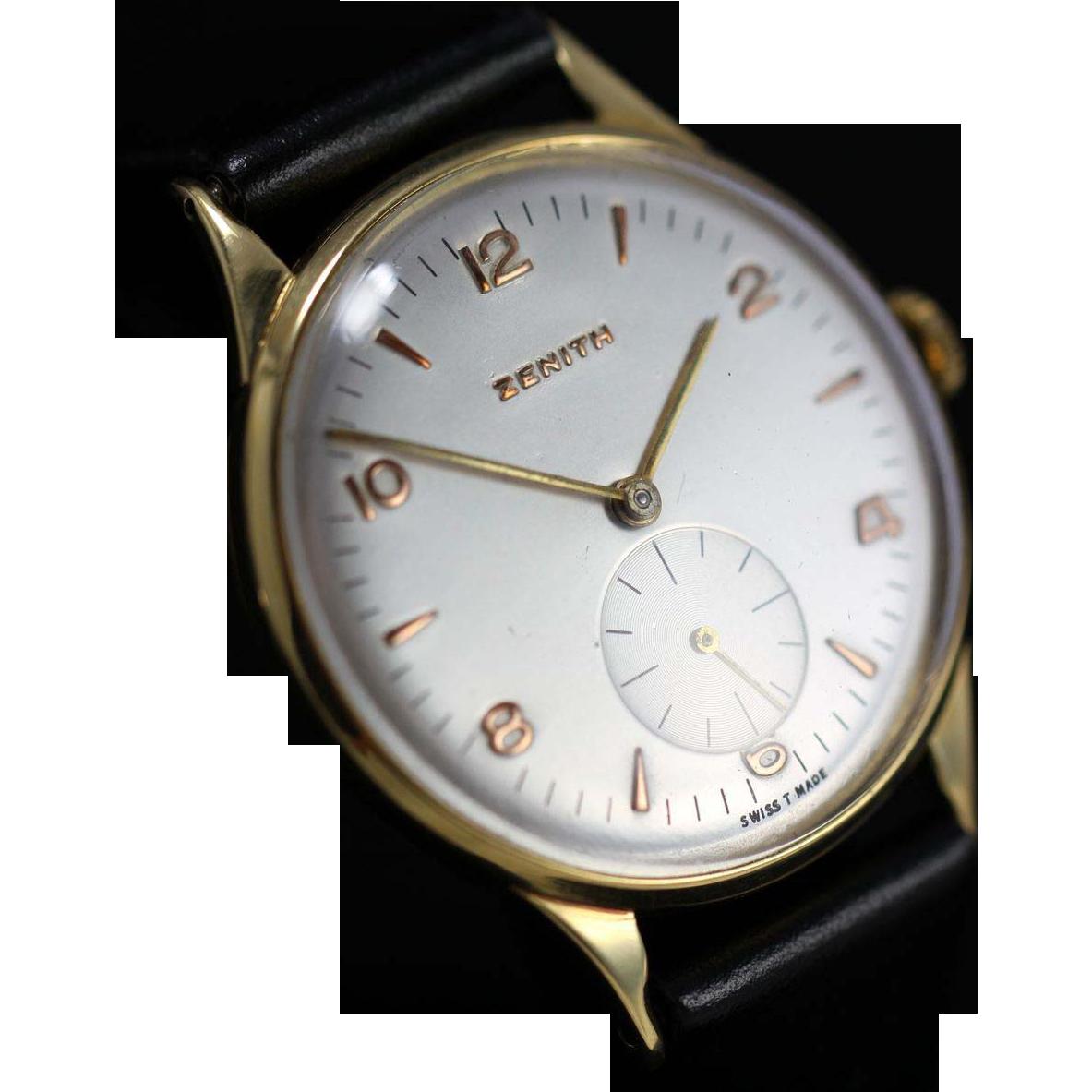 1955 Vintage Zenith 18k Gold Watch Vintage Watches