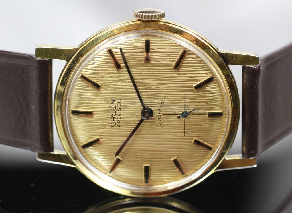 gruen precision gorgeous dial men 39 s vintage watch circa. Black Bedroom Furniture Sets. Home Design Ideas