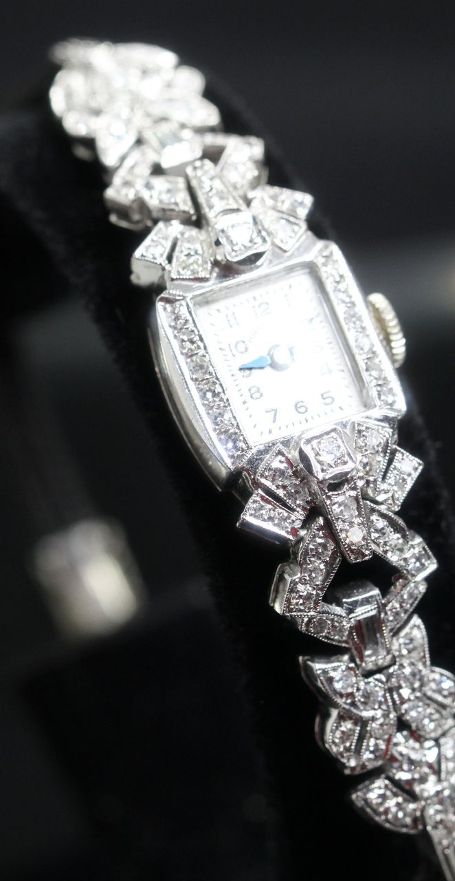Hamilton Vintage Ladies Diamond Watch Circa 1930 S From