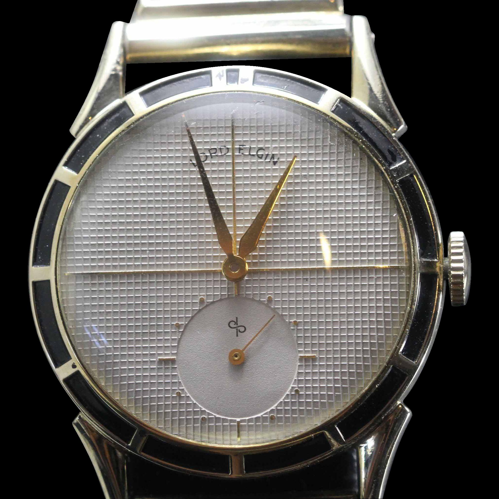 1951 Lord Elgin with Enameled Bezel Vintage Men's Watch ...