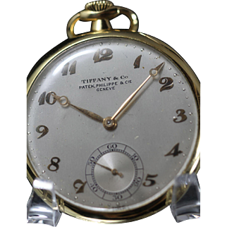 Patek Philippe for Tiffany & Co. 18 kt Gold. Pocket Watch