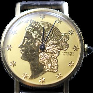 1969 Hamilton Liberty Coin Watch