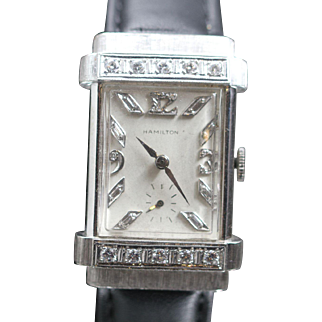 Hamilton 1936 Diamond Top Hat Vintage Watch