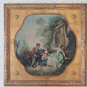 Vintage Nicolas Lancret Print: Innocence - Gilt Frame - Medici Society