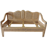 Old TootsieToy Faux Cane Back Sofa Settee