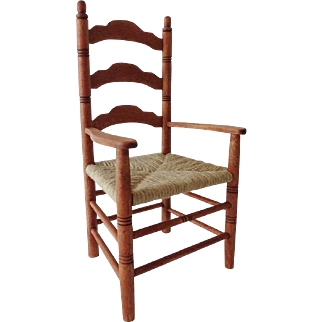 Doll Ladder Back Chair - Signed
