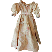 Old Voile Taffeta Doll Dress with Purse