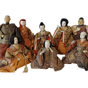 Antique Japanese Kabuki Noh Dolls Collection