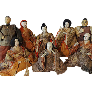 Antique Japanese Kabuki Noh Dolls Collection