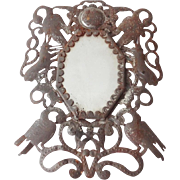 Antique Tin Framed Mirror
