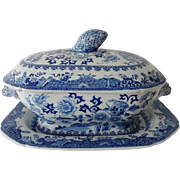 Spode Covered Vegetable Tureen w Under Plate Circa 1850