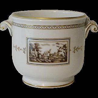 Old Ginori Porcelain Cache Pot