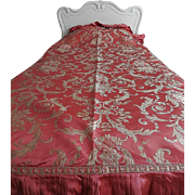 Old Silk Brocade Bed Spreads - Pair