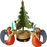 Old German Angels and Christmas Tree Candleholders