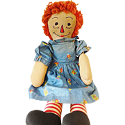 Old Raggedy Ann Doll w Clothes
