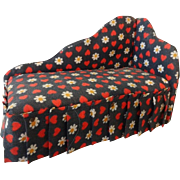 Vintage Doll House Chintz Chaise Lounge