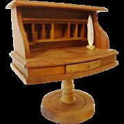 Vintage Shackman Pigeon Hole Desk w Feather Pen
