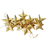 Vintage Set Star Christmas Ornaments