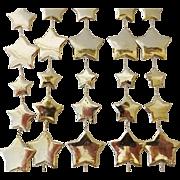Vintage Set Miniature Star Christmas Tree Garlands