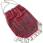Old Velvet Beaded Bag