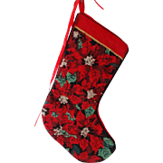 Vintage Needlepoint Christmas Stocking
