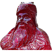 Old Ruby Red Santa Claus Bottle