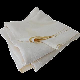 Antique Homespun Linen Sheet