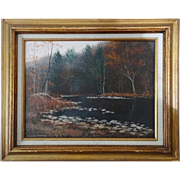 Autumn Landscape Oil Painting - Signed