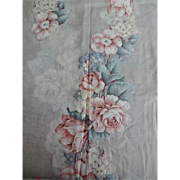 Fine Linen Applique Tablecloth w 12 Napkins