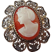 Vintage Cameo in Filagree Setting