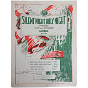 Vintage Christmas Sheet Music - Silent Night - 1930s