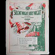 Vintage Christmas Sheet Music - Silent Night - 1930s