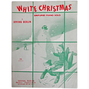 Vintage Christmas Sheet Music - White Christmas for Piano Solo