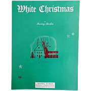 Vintage Christmas Sheet Music - White Christmas by Irving Berlin