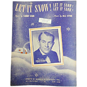 Vintage Christmas Sheet Music - Let It Snow! - 1940s