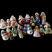 Vintage Miniature Glass Christmas Ornaments - Figurals