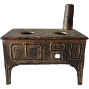Old Dollhouse Miniature French Stove