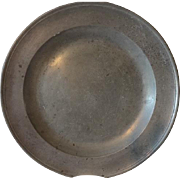 Antique Pewter Charger Platter
