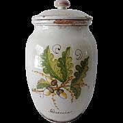Vintage Faience Storge Jar Canister HP