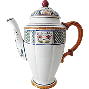 Old Sarreguemine Chocolate Pot - Chinoise