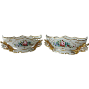 Vintage Vista Alegre Console Center Piece Bowls Pair